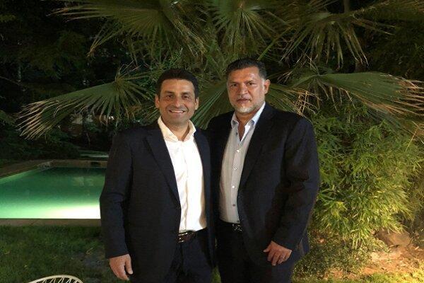 ملاقات علی دایی با سفیر لبنان در تهران